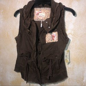 Free People Cargo Vest size small NWT